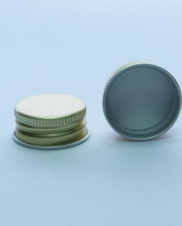 28 mm Alumiinikorkki esikierteytetty kulta